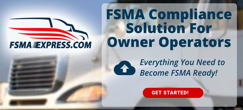 FSMA Express for Small Carriers & Owner Operators