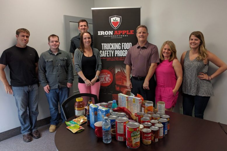Iron Apple Team Supporting Local Food Banks