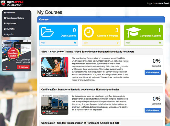 My Courses - eLearning Training Platform