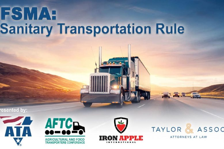 ATA & Iron Apple FSMA Sanitary Transportation Rule Webinar