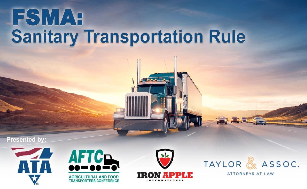 ATA & Iron Apple FSMA Sanitary Transportation Rule Webinar