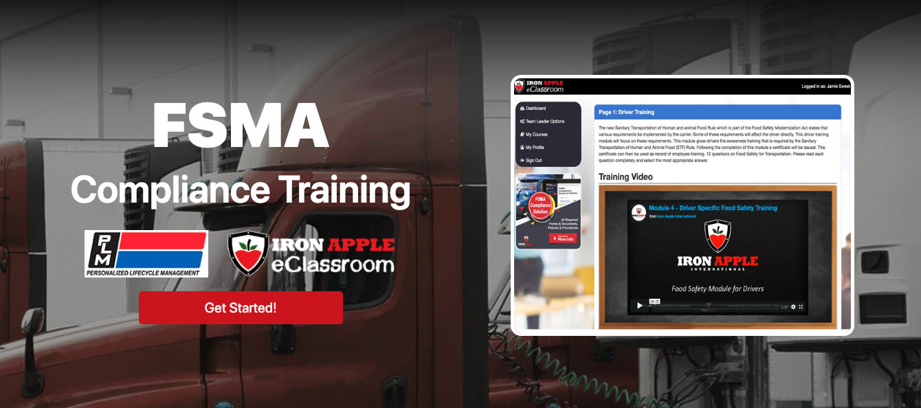 PLM to Deliver Iron Apple FSMA Training and Compliance to