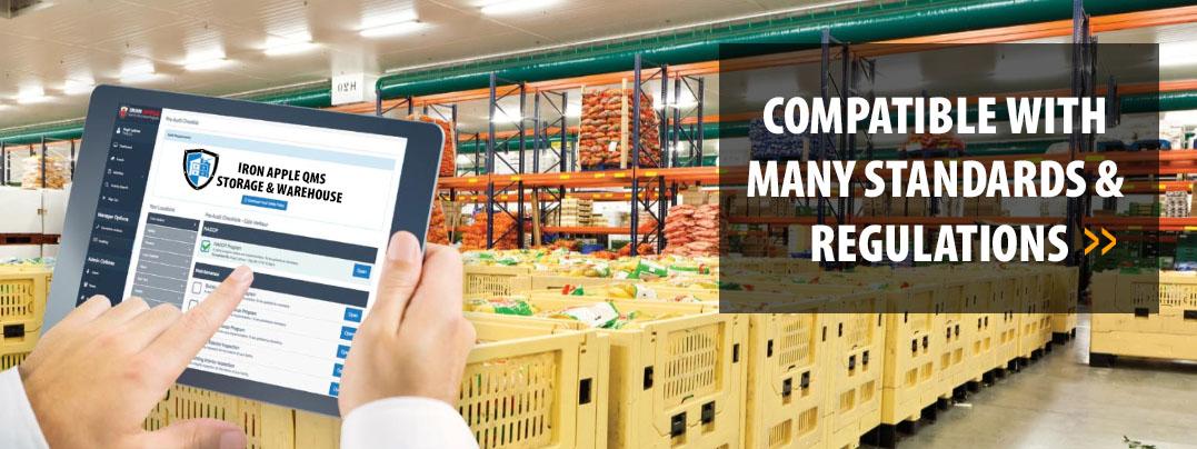 Iron Apple QMS for Food Storage & Warehouse